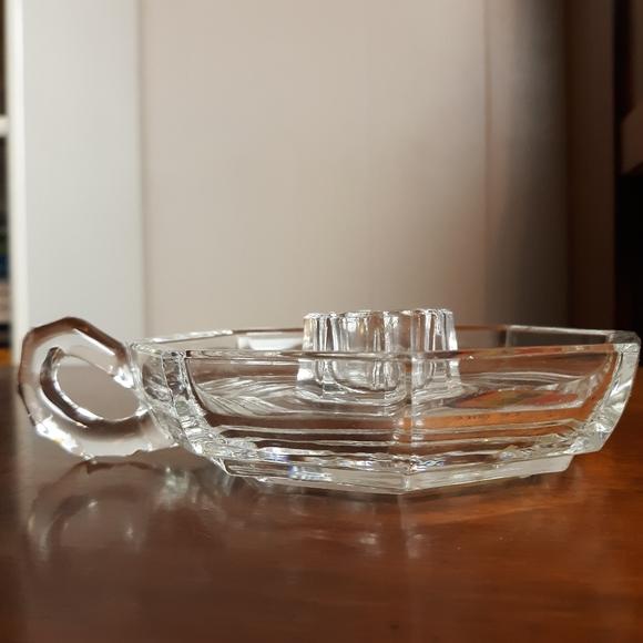 Vintage Other - vintage lead crystal glass candle holder